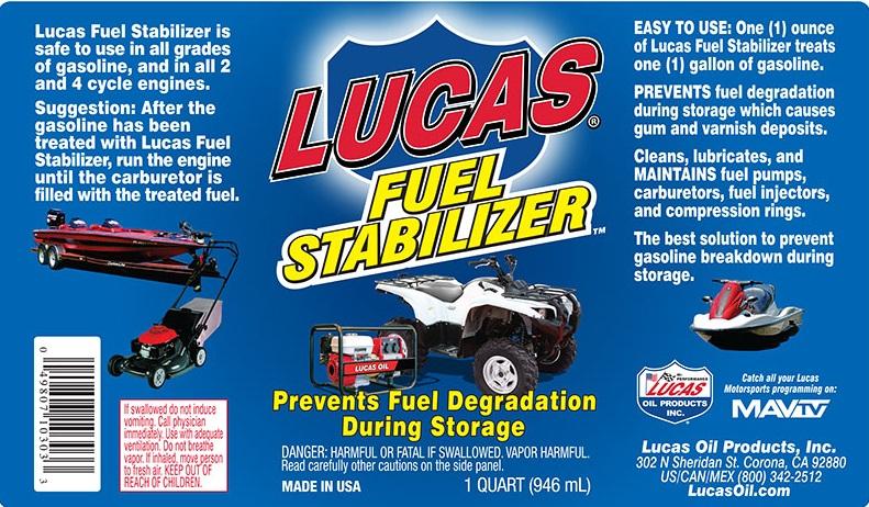 Stabilizzatore Carburanti Lucas Oil Lubrificanti
